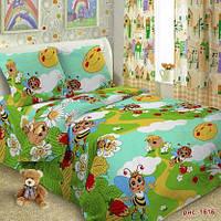 Детская постельная ткань поплин  ш.150 Пчелки