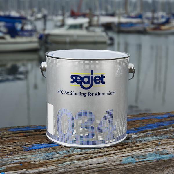 Необрастайка для лодки с самополировкой голубая 2,5 литра Seajet 034 emperor