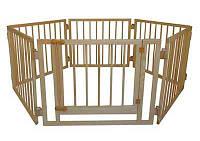 Детский деревянный манеж 72 см, 6 секций с воротами