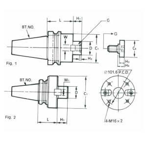 BT40-FMB27-60L(MAS403)  Патрон фрезерный, фото 2