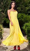 Желтый сарафан с воланами