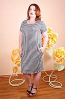 Платье большого размера Вероника лапки,  нарядное платье большого размера