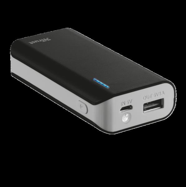 Портативное зарядное устройство Trust Primo 5200 Black (внешняя зарядка для телефона)