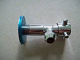 """Кран шаровый угловой 1/2"""" х 3/8 (м 10) (CROME) ST 301, фото 3"""