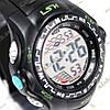 Электронные спортивные часы LSH №1078 (черно-зеленые)
