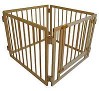 Манеж детский деревянный 72 см 4 секции с воротами