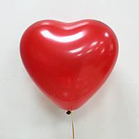 """Воздушные шарики """"Сердце"""" 15 см. 100 шт. Красный"""