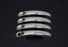 Хром накладки на дверные ручки Volkswagen Amarok (c 2010--) (нерж.) 4-дверн.