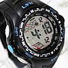 Электронные спортивные часы LSH №1078 (черно-голубые)