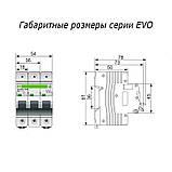 "Автоматический выключатель АВ 2000 3п 80А ""D"" EVO, фото 2"