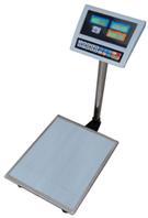 Товарные электронные весы со стойкой ВПЕ-Центровес-608-600-ДВ  до 600 кг; (600х800 мм)