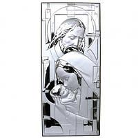 Икона серебрянная, Италия ,эксклюзивный дизайн «Святая Семья», Linea Argenti, 36х20 см.
