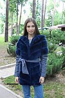 Зимняя куртка с мехом кролика Рекс на синтепоне,рукав-трансформер, в наличии 44,46раз.