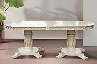 """Белый раскладной обеденный стол """"Монарх"""""""