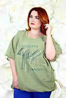 Красивая туника батал Занотти зеленый, фото 1