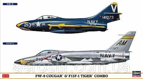 F9F-8 Cougar & F11F-1 Tiger COMBO 1/72 HASEGAWA 00906