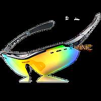 Велосипедные очки BaseCamp BC-102 поляризационные с 6 линзами и диоптриями