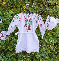 """Хрестильний набір для дівчинки ручної вишивки """"Польові квіти"""", фото 1"""