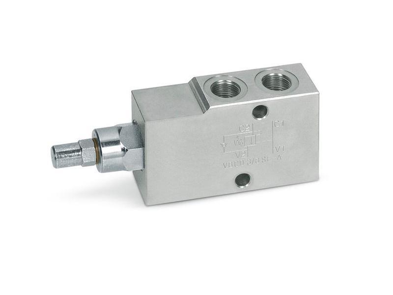 """Overcenter - гальмівний (підпірний) клапан (60 л/хв, G 1/2"""")"""