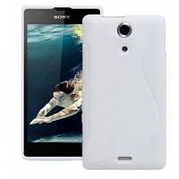 Чехол Silicon case для Sony Xperia ZR White