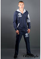 Мужской спортивный костюм Шалди т.синий