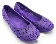 Балетки пляжные фиолетовые р.36