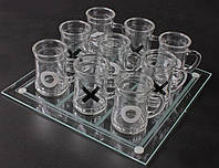 Алко-игра Крестики-нолики (пьяные Крестики-нолики) пивные кружки, 25 х 25 см