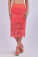 Летняя кружевная юбка - карандаш (удлиненная)
