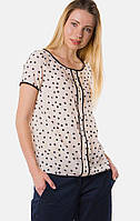 Прямая блуза с принтом MR520 MR 217 2125 0216 Milky White