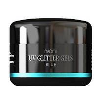 Глиттерные гели Naomi UV Glitter gels