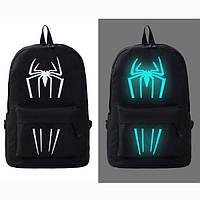 Рюкзак молодежный светящийся с пауком