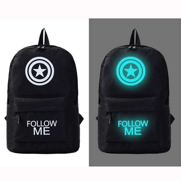 Молодежный светящийся рюкзак  Follow me
