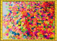 Конфетти сердечки LOVE, 250 грамм