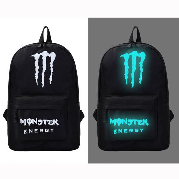 Молодежный светящийся рюкзак  Моnster Energy (реплика)