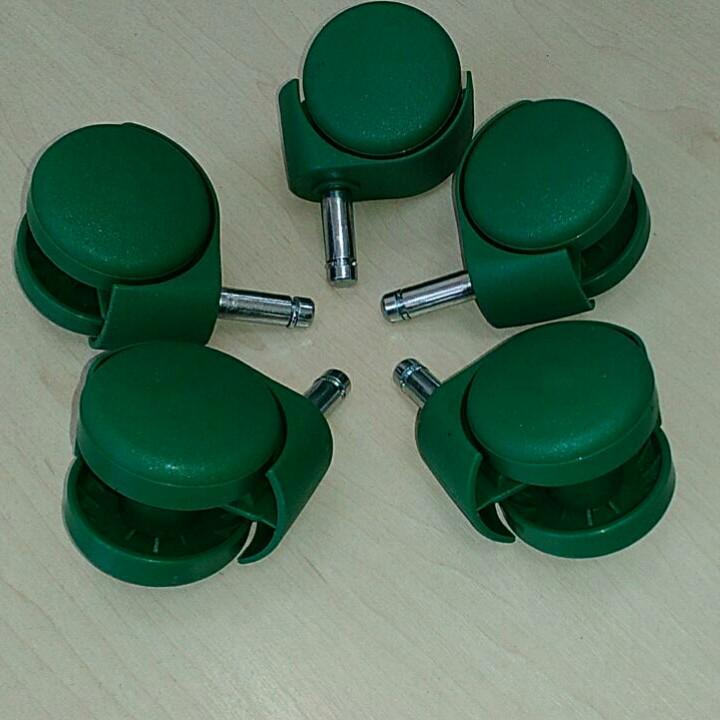 Колеса для офисного кресла цветные 10мм. (5шт) ЗЕЛЕНЫЙ