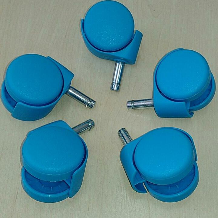 Колеса для офисного кресла цветные 10мм. (5шт) СИНИЙ