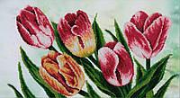 Схема для вышивки бисером T-0716 Весенние тюльпаны