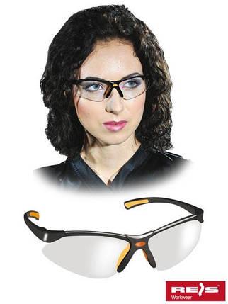 Очки защитные OO-TEKSAS с тонированными линзами - REIS, фото 2