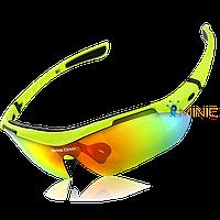 Велосипедные очки BaseCamp BC-102C поляризационные с 3 линзами и диоптриями