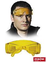 Очки защитные GOG-ICE-LIGHT Y с поликарбоната - желтого цвета - REIS
