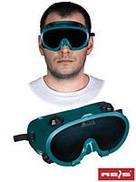 Защитные очки сварщика GOG-SPARK, черно-зеленого цвета -REIS