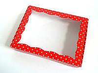 Коробка для пряников 15х20х3 см Красный