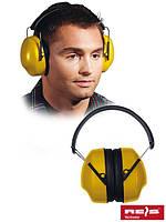 Наушники шумозащитные OSY желтого цвета REIS, звукоизоляция SNR = 25 дБ
