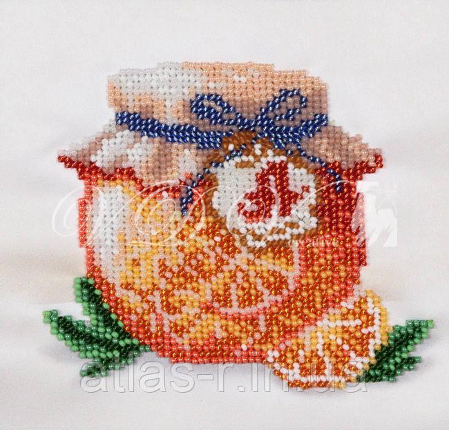 """Схема для часткової вишивки бісером """"Апельсиновий джем"""""""