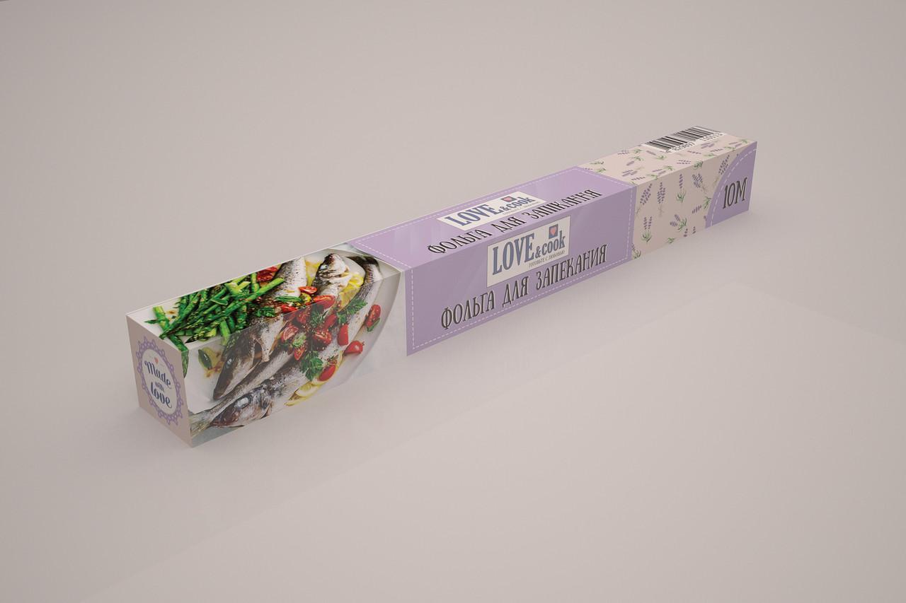 Фольга пищевая алюминевая  Love & Cook Ширина 280мм*50м(9мкм)супер прочная