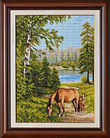 "Набор для вышивания ""Лошади в лесу (Horses in the forest)"" EXPRESSIONS ex1146"