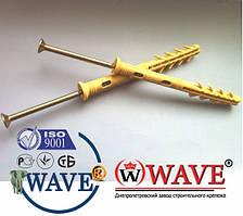 Дюбель 8х100 мм (с усом) с ударным шурупом потай для быстрого монтажа 50шт
