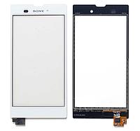 Оригинальный тачскрин сенсор (сенсорное стекло) для Sony Xperia T3 D5102 | D5103 | D5106 | M50w (белый цвет)