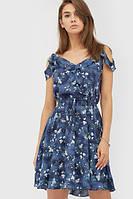 Жіноче синє плаття в квітку Niory