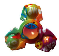 Спиннер Tri Fidget (детский, цветной светлый) Игрушка антистресс